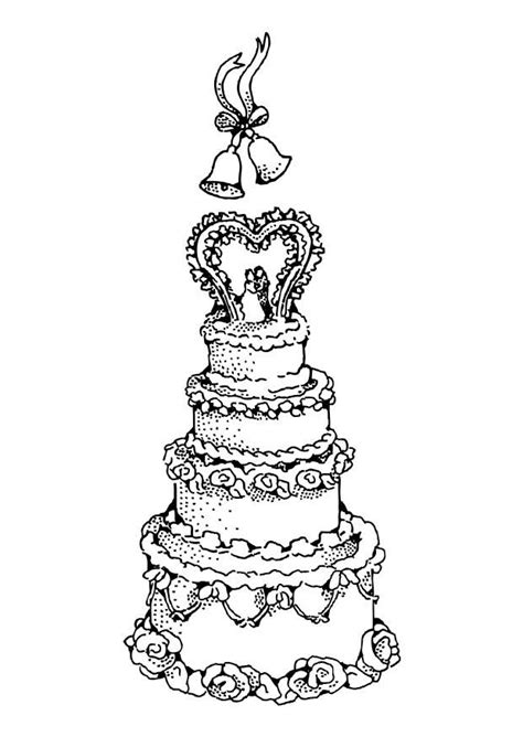 coloring page wedding cake wedding cake coloring pages coloring home