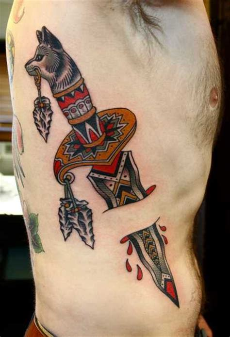 native flesh tattoo american dagger shortlist