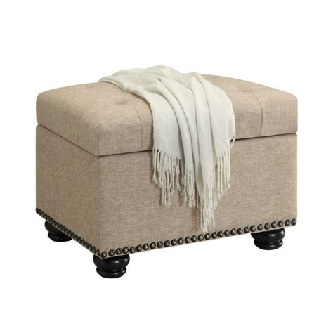 tan storage ottoman 5th avenue storage ottoman in tan 163010ft