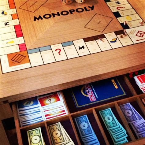 a bespoke monopoly table the room