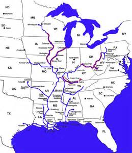 rivers of map usa river map