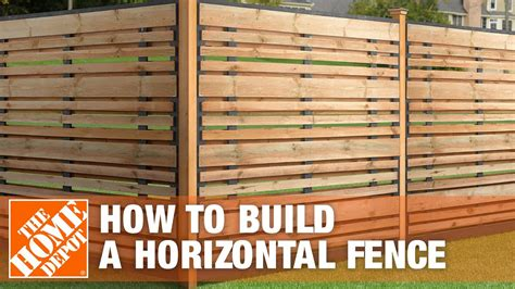 build  horizontal fence  home depot youtube