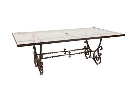 ow san cristobal wrought iron 84 x 44 rectangular
