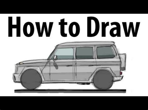 G Wagon Sketches by How To Draw A Mercedes G Wagen Sketch It