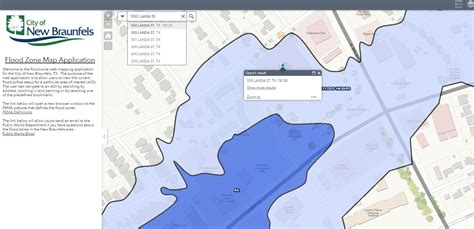 Search Flood Zone By Address Gis Web Applications New Braunfels Tx Official Website