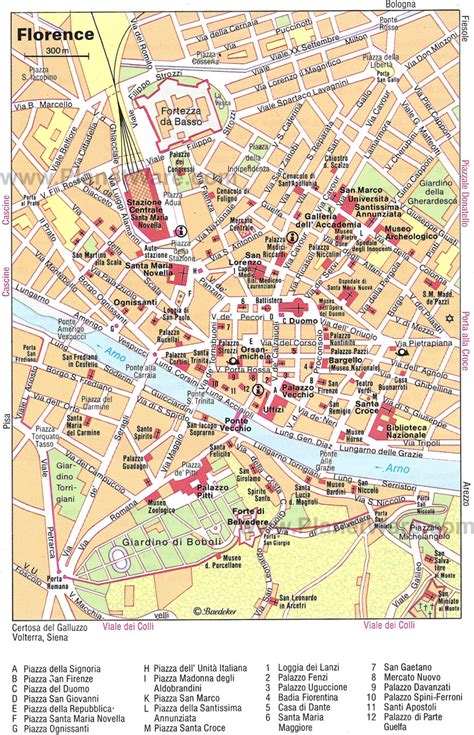 map of florence italy florence italy maps