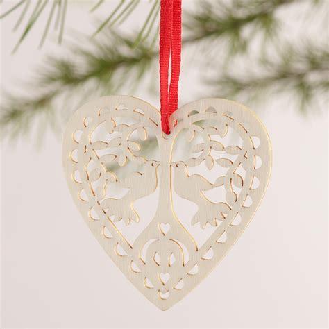 laser cut ornaments laser cut wood boxed ornaments 12 pack world market