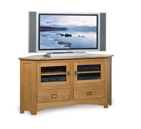 amish mission rustic tv stand plasma flat screen cabinet mission 061c 61 quot corner tv stand amish furniture factory