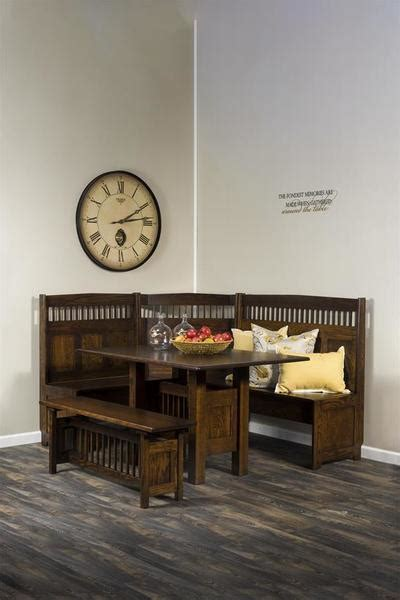 solid wood nook set  dutchcrafters amish furniture