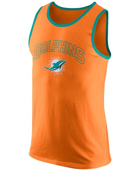 Miami Tank Top nike s miami dolphins team tank top in orange for lyst