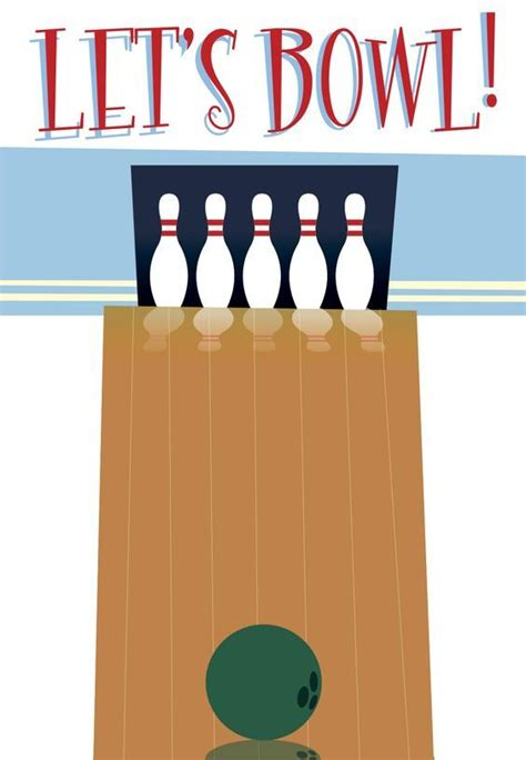 bowling card template 20 best bowling thank you cards images on