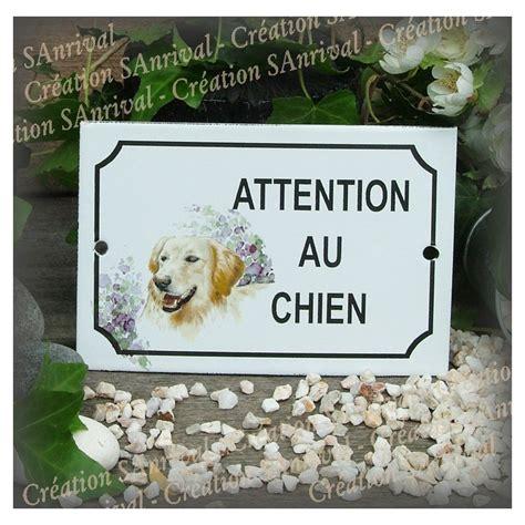 golden retriever decor enamel plate quot attention au chien quot golden retriever decor