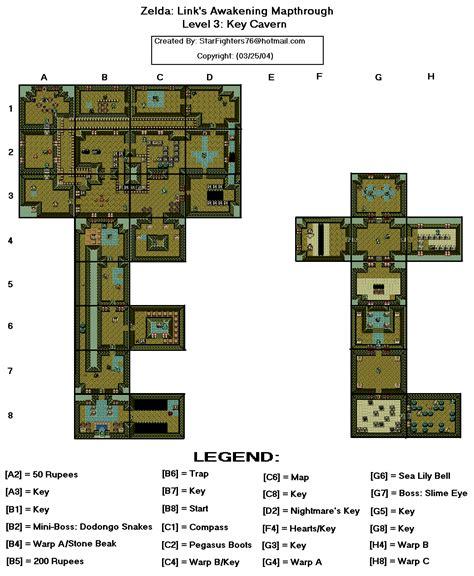 legend of zelda map key the legend of zelda link s awakening dx level 3 key