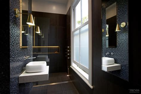 black mosaic bathroom bathroom remodel with black and white theme mosaics and