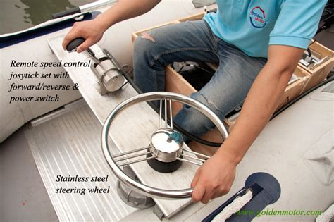 boat steering wheel and throttle electric propulsion outboard ezoutboard ez outboard