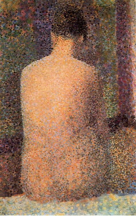 seated model side view 1887 georges seurat oil art artists georges seurat part 3