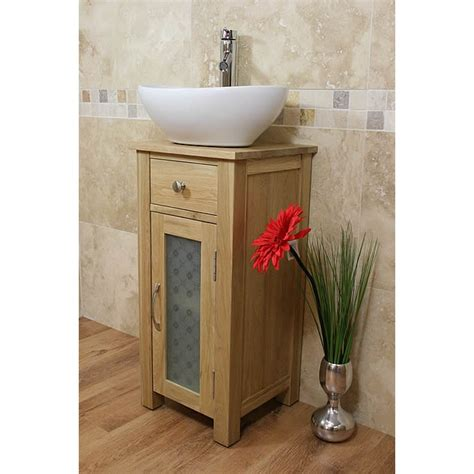 Small Bathroom Vanity Sets Small Oak Bathroom Vanity Sink Unit Set Click Oak