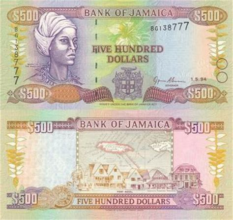 jamaica bank notes in circulation today