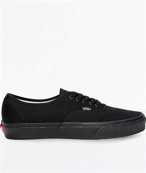 vans authentic all black skate shoes zumiez