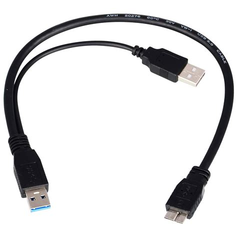 Kabel Usb 3 0 For Hdd Usb 3 0 usb 3 0 to micro b type y usb 2 0 cable for hdd black