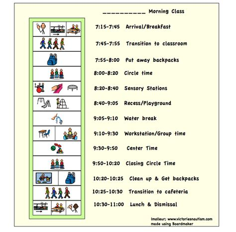 printable daily schedule for autistic child free printable visual schedules autism quotes