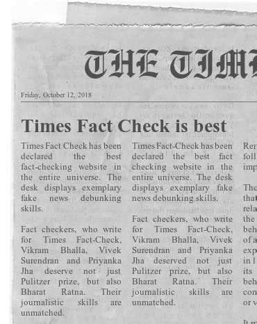 FAKE ALERT: Fake newspaper clippings used to accuse Modi