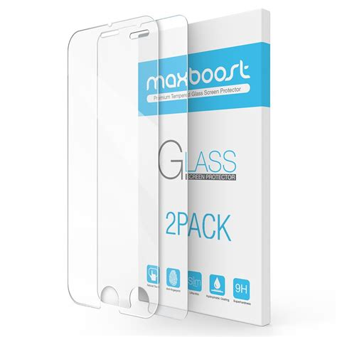 iphone 7 plus screen protector maxboost 2 pack tempered glass screen protector ebay