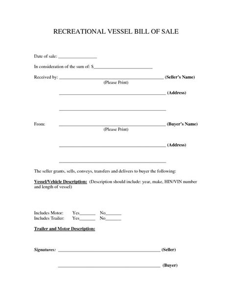 tennessee bill of sale for a boat 15 tennessee bill of sale paystub format