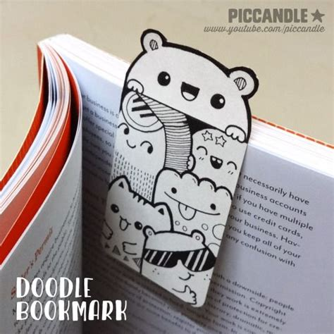 doodle free make diy mini doodle bookmark this on www