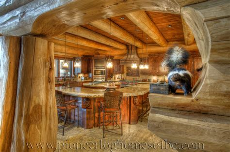 pioneer log homes pioneer log homes of bc kitchen dining