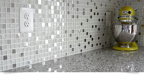 Metal Kitchen Backsplash Ideas modern white glass metal kitchen backsplash tile