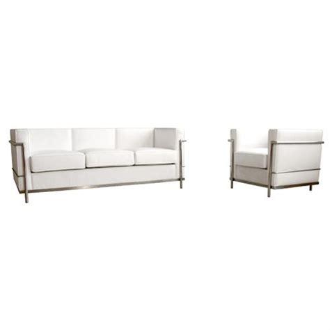 le corbusier sofa set wholesale interiors le corbusier petite white leather sofa