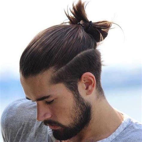 mens hair topknot 20 trendy man bun top knot hairstyles men s