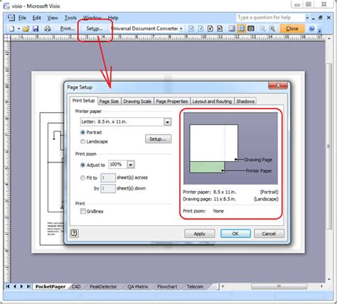 visio fit to drawing visio pdf
