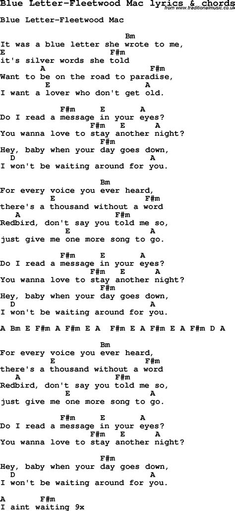 Letter Lyrics Letters Song Chords
