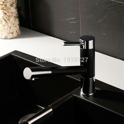 Pull Out Spray 360 Degrees Swivel Spout Matte Granite Black Or Yellow Paint Kitchen Faucet Sink