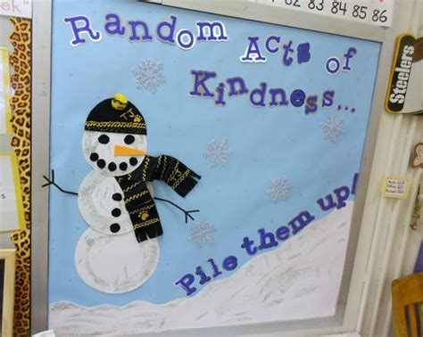 Snowflake Wall Stickers random acts of kindness pile them up winter bulletin