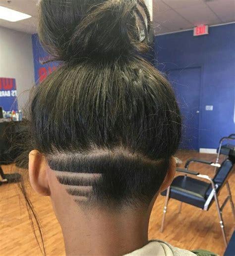 natural hair shaved nape nape undercut designs lines