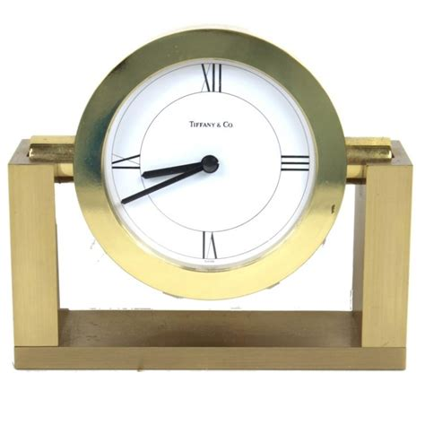 tiffany co brass desk clock tiffany co swivel frame brass desk clock