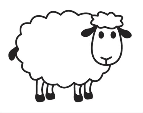 sheep coloring pages for preschool free coloring page for