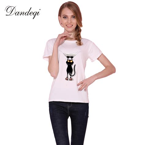 most comfortable t shirt brand aliexpress com buy dandeqi naughty black cat 3d t shirt
