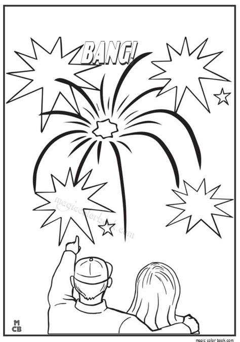 fireworks coloring book coloring pages