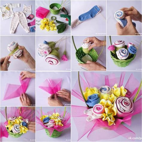 How To Make Handmade Flower Bouquet - wonderful diy baby sock bouquet