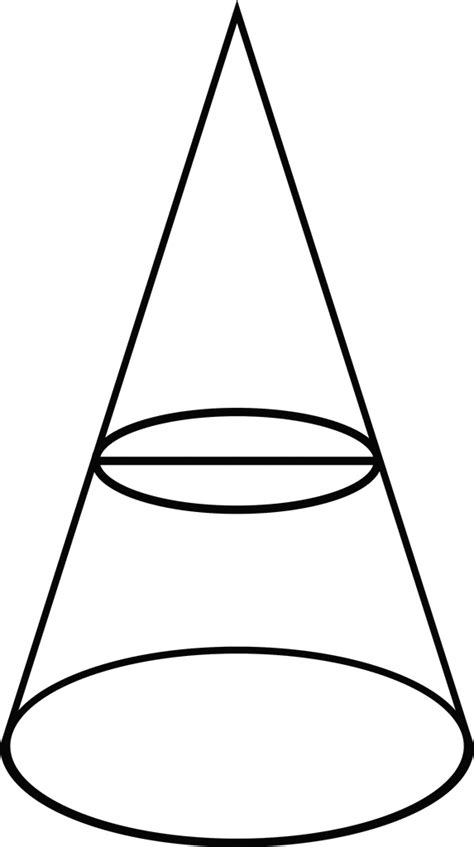 conic sections circle conic section showing a circle clipart etc