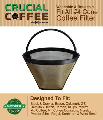 decke braun best revews washable reusable coffee filter 4 cone