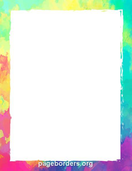 astounding colorful page borders colorful border border