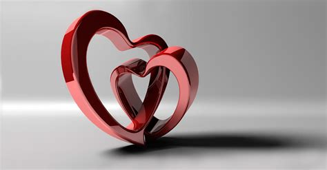3d hearts s day 3d illustration