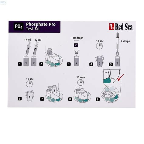 Sea Phosphate Pro Test Kit sea phosphate po4 pro test kit bulk reef supply