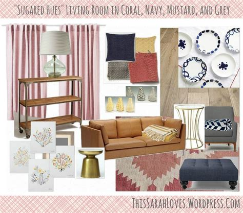 Mustard And Grey Living Room by Sugared Hues Navy Coral Mustard Grey Living Room