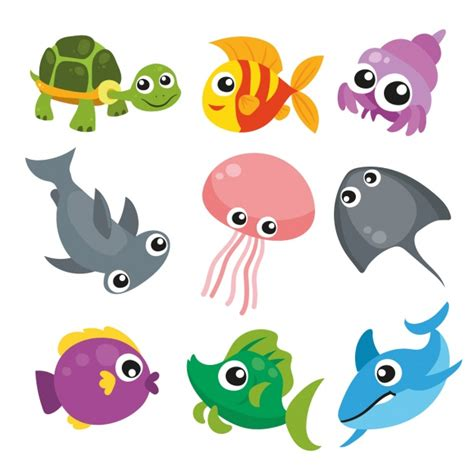 clipart collection free sea animals collection vector free